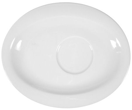 Kombi-Untertasse oval 19x15,5 cm als Werbeartikel