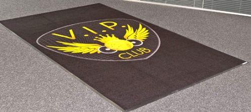 Logomatte Jet-Print Velours 45x75 cm als Werbeartikel