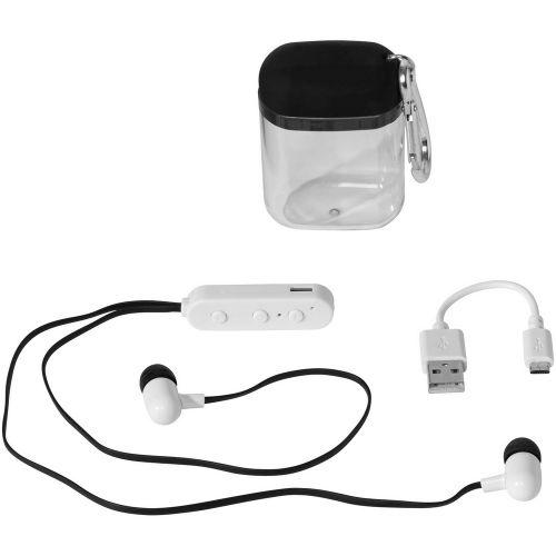 Bluetooth® Ohrhörer Budget mit Karabiner Etui als Werbeartikel