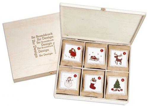 Adventskalender in der Birkenholzbox als Werbeartikel