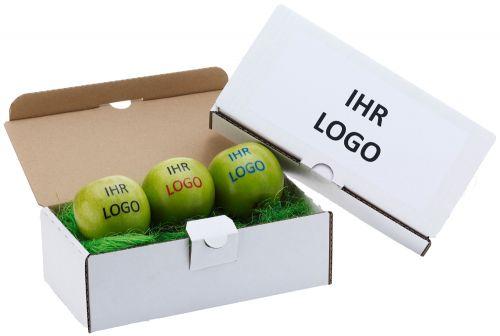 Triobox für drei Äpfel als Werbeartikel