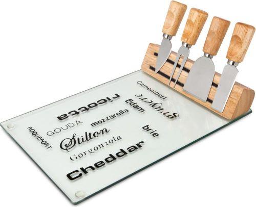 Käse-Set Vetro mit Glasplatte als Werbeartikel
