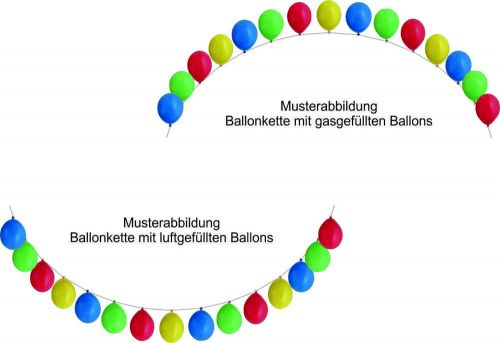 Ballon-Deko-Fix-Girlande ohne Ballons als Werbeartikel