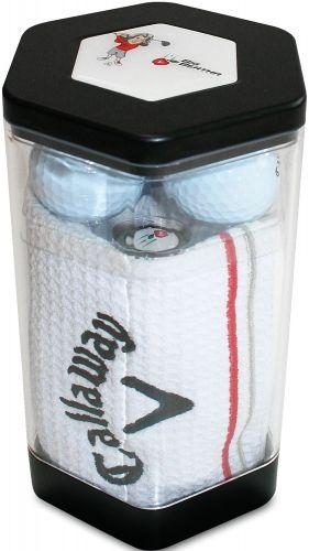 Callaway 3-Bälle Handtuchbox als Werbeartikel