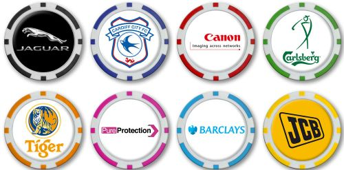 40 mm Monaco Poker Chip Ballmarker Logo Doming als Werbeartikel