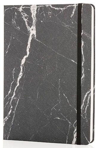 Deluxe A5 Notizbuch in Marmor Optik als Werbeartikel