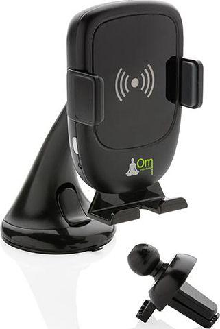 Phone-Holder mit Wireless Charger 5W als Werbeartikel