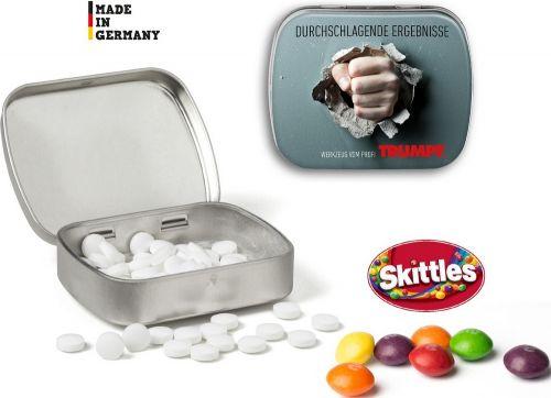 Traubenzucker Mini Nostalgiedose als Werbeartikel