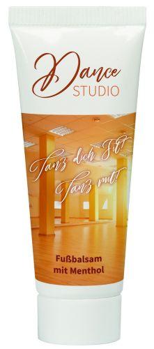 10 ml Tube mit Fuß Balsam mit Menthol als Werbeartikel