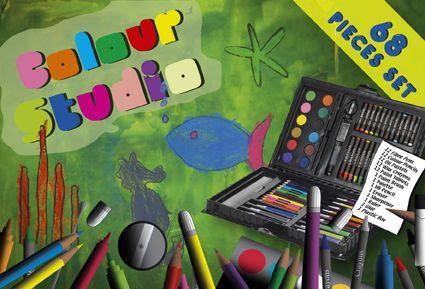 Kinder-Zeichenset Color-Studio als Werbeartikel