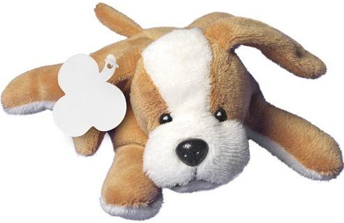 Plüsch-Hund Malcolm als Werbeartikel