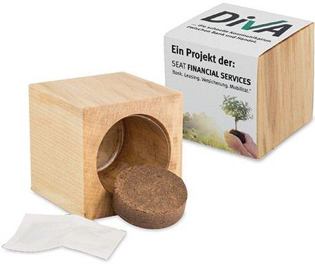Pflanz-Holz Maxi, mit Druck und/oder Lasergravur als Werbeartikel