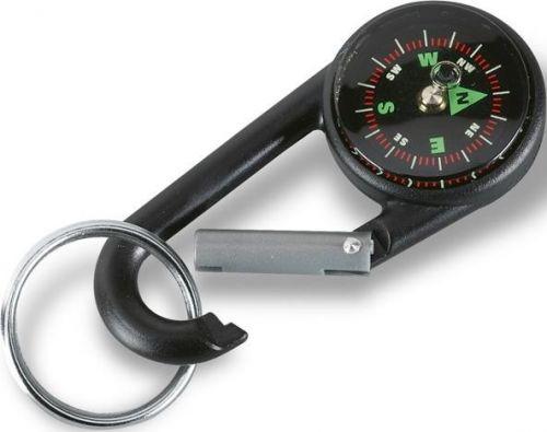 Karabinerhaken mit Deko-Kompass als Werbeartikel