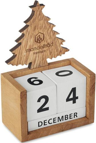 Ewiger Kalender aus Holz als Werbeartikel