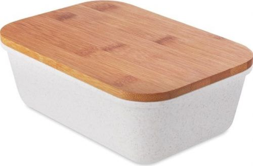 Lunch-Box mit Bambus Deckel als Werbeartikel