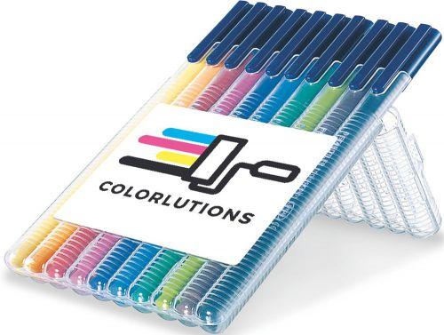 STAEDTLER triplus color, Box mit 10 Stiften als Werbeartikel