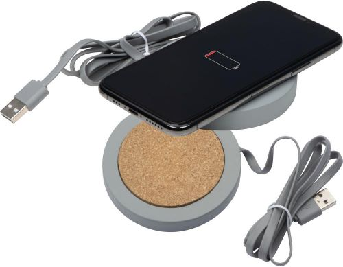 Wireless Charger aus Limestone cement als Werbeartikel