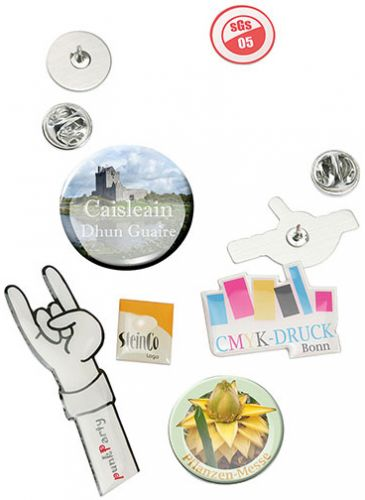 Pin (Metall-Anstecker aus Aluminium) als Werbeartikel