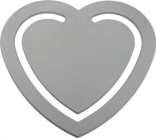 Recycling Zettelklammer Herz als Werbeartikel