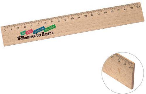 Holz-Lineal 20 cm als Werbeartikel