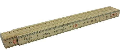 Holzglieder-Maßstab 2 m aus Buchenholz als Werbeartikel