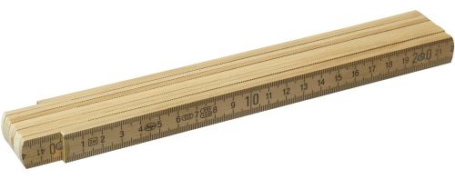 Holzglieder-Maßstab Plus 2 m mit Patentierung als Werbeartikel