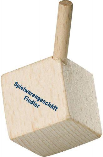Kreisel Holzwürfel als Werbeartikel