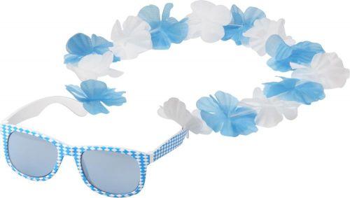 Spaßbrille Bavaria mit Blumenkette als Werbeartikel