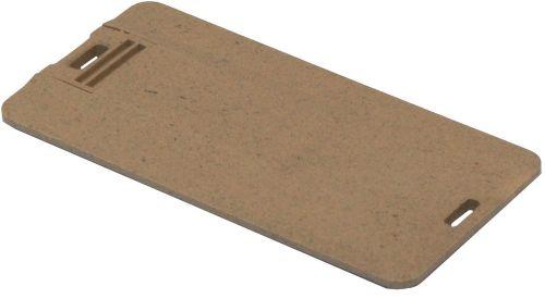 Memory-Stick biologisch abbaubar Credit Card 6 USB 2.0 als Werbeartikel