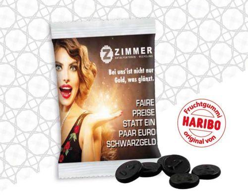 Haribo Lakritzgeld Werbetüte 10 g als Werbeartikel