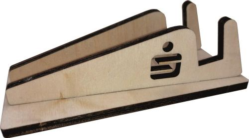 Smartphone-Halter Kleinholz mit Standard-Logo als Werbeartikel