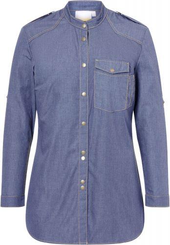 Damenkochhemd Jeans-Style als Werbeartikel