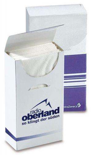 Hygienetücher VitaSoft® 10 mit 4c Druck als Werbeartikel