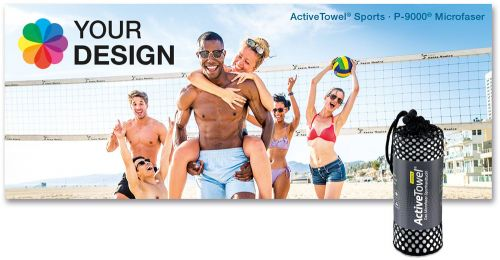 ActiveTowel® Sports Microfaser-Sporthandtuch 180 x 70 cm im Netzbeutel Standard als Werbeartikel
