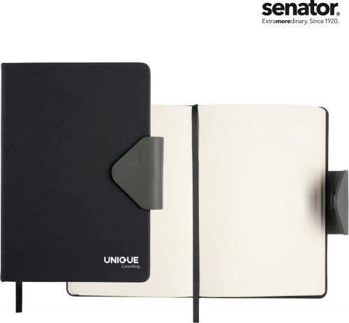 Senator Notizbuch Struktur mit Magnet als Werbeartikel
