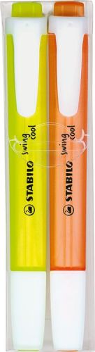 Stabilo swing cool 2er-Set Leuchtmarkierer als Werbeartikel
