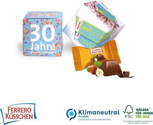 Werbe-Würfel Küsschen, 1er als Werbeartikel