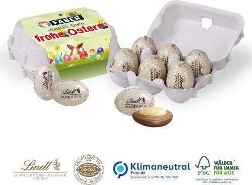 Schoko-Eier 6er-Set von Lindt als Werbeartikel