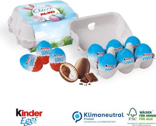 Schoko-Eier 6er-Set von Kinder als Werbeartikel