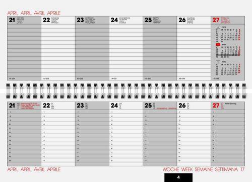Tischquerkalender Modell 772 Balacron als Werbeartikel