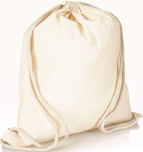 Klassischer Turnbeutel aus Baumwolle als Werbeartikel