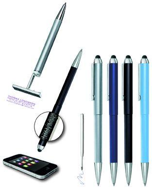 Schreibgerät mit Stempel Stamp & TouchPen 3 in 1 als Werbeartikel