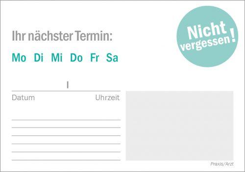 Terminblock für Ärzte - Format A7 - 50 Blatt als Werbeartikel