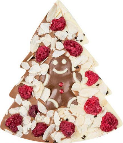 Schokoladentafel Tannenbaum Duett als Werbeartikel