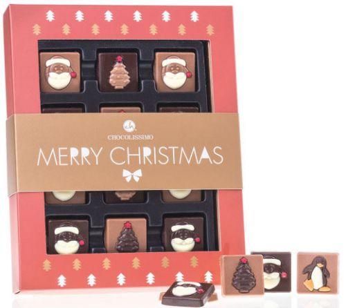 Schokolade Santas & Trees als Werbeartikel