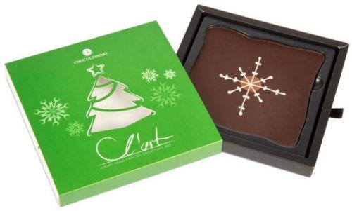 Schokoladentafel LArt Weihnachtsbaum als Werbeartikel