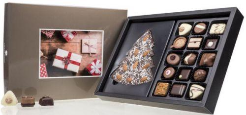 Schokolade Xmas Choco Postcard Maxi Dark als Werbeartikel
