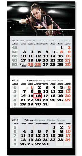 3-Monats-Wandkalender inkl. Logo-Druck als Werbeartikel