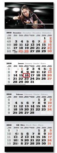 4-Monats-Wandkalender inkl. Logo-Druck als Werbeartikel