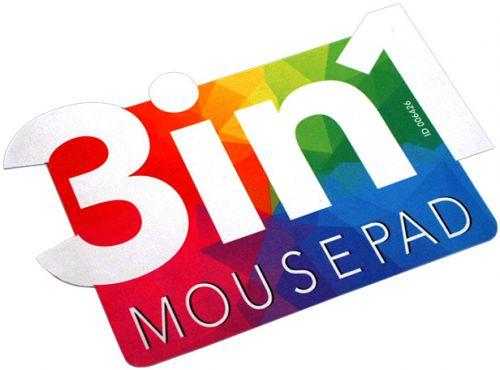 3in1 Mikrofaser Mousepad in Sonderform als Werbeartikel